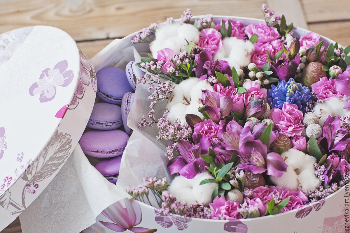 Цветы в коробке картинки